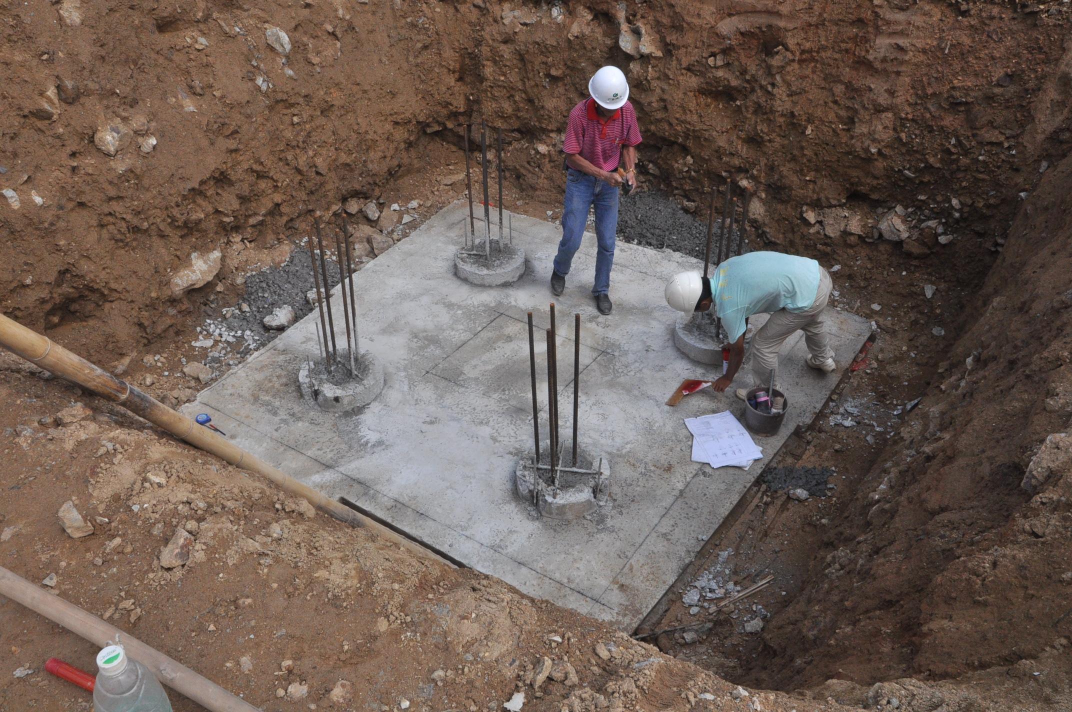 砖胎膜的砌筑 - 施工图片